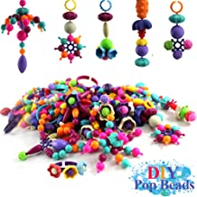 Buself Pop Beads DIY Jewelry for Girls - 220 PCS Jewelry Making Kit, Pop Arty Beads Toys for Girls 3 Years and Up, Gift Choice