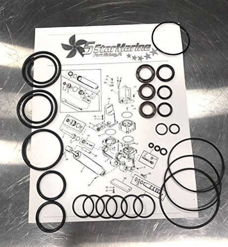 REBUILD KIT! Mercury 135-140-150-175-200-225-200-250 Trim Tilt Seal Kit 811612A FSM010