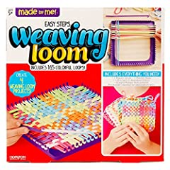 WEAVE INTO A WORLD OF CREATIVITY: With over 100 bright-colored loops, a sturdy weaving loom, a plastic crochet hook, and step-by-step instructions, it's easy to jump right in and start creating! 3 STEPS TO ENDLESS CREATIVITY: Over, under, repeat — le...