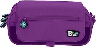 comprar comparacion Grafoplás Bits & Bobs, Estuche Escolar 3 Compartimentos con Solapa, 23 cm, Violeta