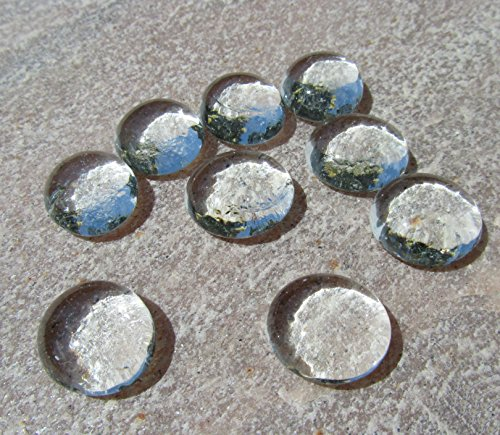 """Seedeco® Glasnuggets Glassteine 30 Stück ca.17-22mm Klar/Weiß """"Top Qualität"""""""