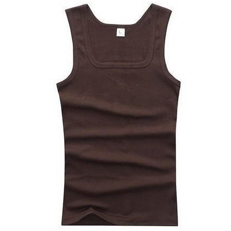 (ヤンググロリ)YOGLY メンズ 軽くて薄い 速乾性に優れた ノースリーブ Tシャツ 男の必須アイテム インナーでも一枚でも使える シンプル 無地 メンズ タンクトップ 8color