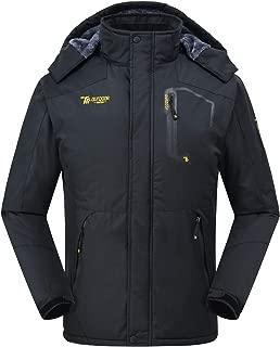 TBMPOY Men's Mountain Ski Snow Jacket Waterproof Rain Jackets Fleece Outwear Winter Coat