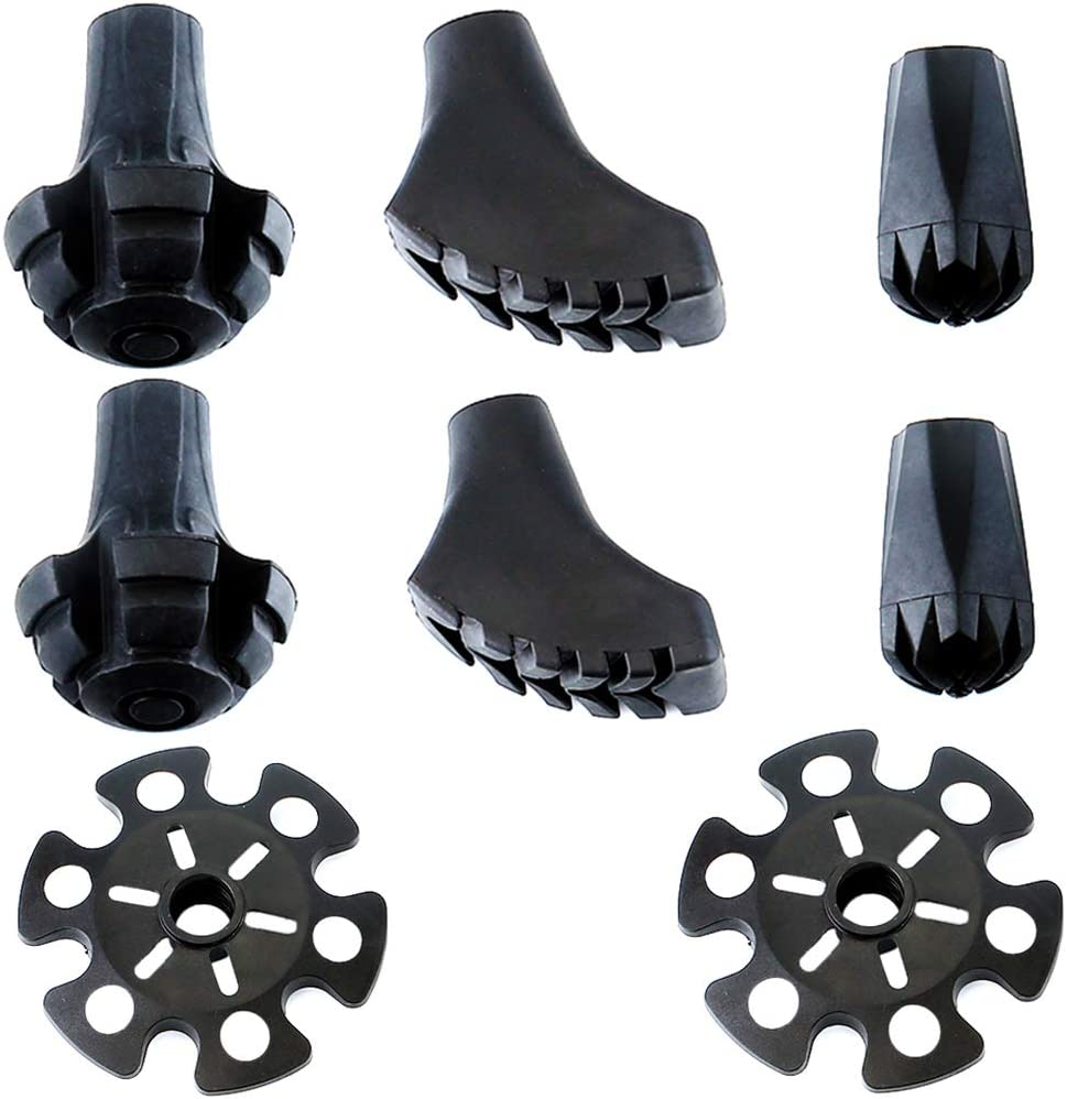 Alafen NEW Replacement Outlet sale feature Rubber Tips Set Walking Pole Hik Trekking for