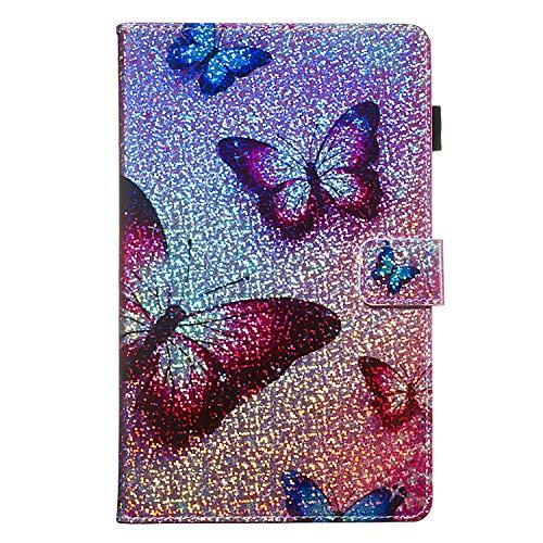 Candy House - Funda para tablet Samsung Galaxy Tab A de 7,0 pulgadas SM-T280 SM-T285, con purpurina y función atril, cierre magnético...