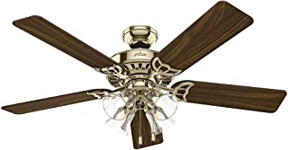casablanca fan light kit antique brass