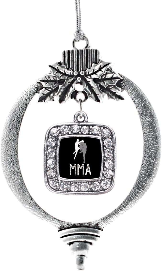 Inspired Silver Fresno Mall - MMA Ornament Max 85% OFF Charm Holid Square