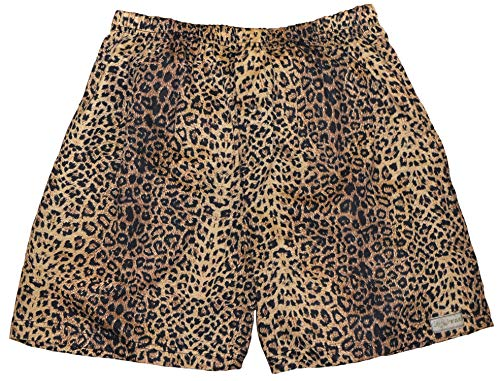 Tag Safari Leopard Print Boxer Shorts for Men-2X Large