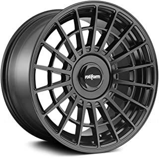 Rotiform LAS-R Matte Black Wheel with Painted Finish (18 x 9.5 inches /5 x 100 mm, 25 mm Offset)