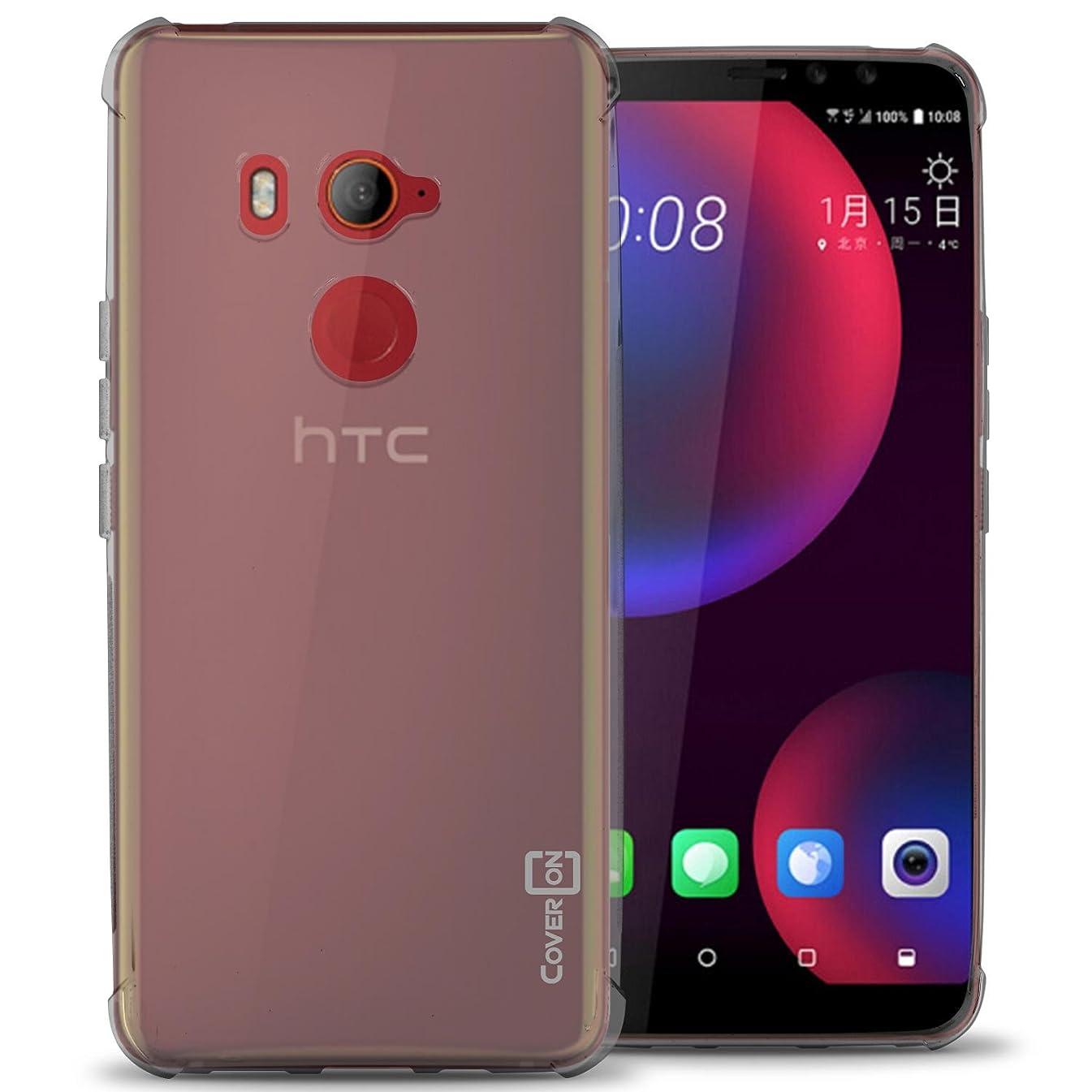 HTC U11 Eyes Case, CoverON [FlexGuard Series] Premium Slim Fit TPU Rubber Phone Cover for HTC U11 Eyes (HTC Edge Sense Compatible) - HD Clear