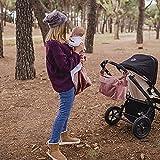 MIMUSELINA. ARRULLO bebé, Manta Hospital recién Nacido (70x90cm), Toquilla para arrullar al Bebe. CÁLIDO, Suave, Estampado Original PRÁCTICO Regalo BEBÉS (Velvet Rose (Terciopelo Rosa))