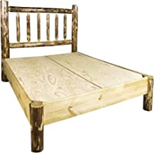 Montana Woodworks MWGCPBQ Glacier Country Collection Platform Log Bed, Queen