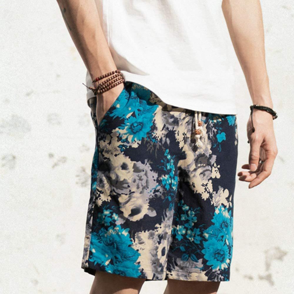 Short Homme Homme Large Breasted Sarouel Coton Lin Jambe Large Pyjama Lâche Shorts Hommes Short D'été