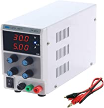 DC Power Supply Variable 3-Digital 30V 5A Power Supply Single-Output 110V with Alligator Leads, US Power Cord