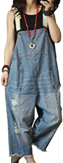 P60 Women Jeans Cropped Pants Overalls Jumpsuits Hand...