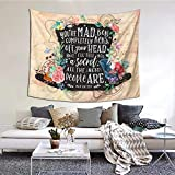 MOONSOON Mad Hatter Boutique Tapestry Wall Hanging Tapestry Vintage Tapestry Wall Tapestry Micro Fiber Peach Home Decor 59.1x51.2 in