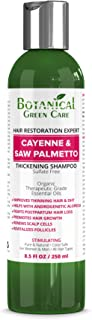 "Hair Growth/Anti-Hair Loss Premium Organic Sulfate-Free Shampoo ""Cayenne & Saw Palmetto"" Natural Therapy and Alopecia Prevention."