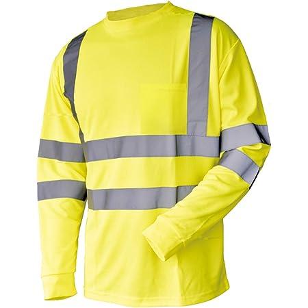 3X-Large, Orange High Visibility Fluorescent Safety T-Shirt 100/% Cotton Full Sleeve