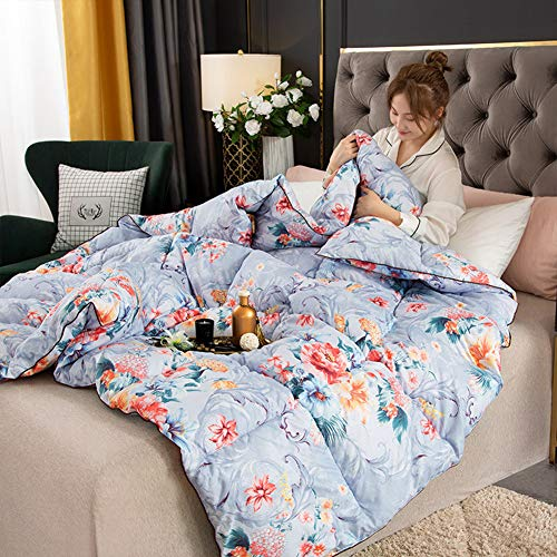 YXZN King Size Duvet - 13.5 Tog Luxurious Goose Feather Down Quilt, 95% Down King Size Bed Duvet 100% Cotton Shell Anti-dust Mite Feather-proof Fabric Anti-allergen