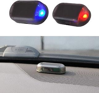 Alarminstallatie auto, solar powerdummy auto alarm led licht simuleren imitatie waarschuwing anti-diefstal knipperlicht au...