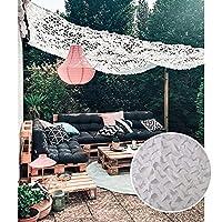 屋外ミリタリーカモフラージュネット、日焼け止めオックスフォードファブリックカモフラージュネット、白いカモフラージュネット、狩猟、キャンプ、庭、パーゴラに使用、装飾、3x5m,8x9(26.2*30ft)