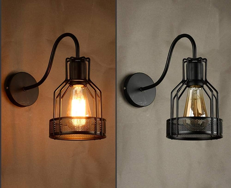 Einfache, nachtrgliche Eisen Wandleuchte Schlafzimmer Flur balkon Bars Cafes dekorative Leuchten, D