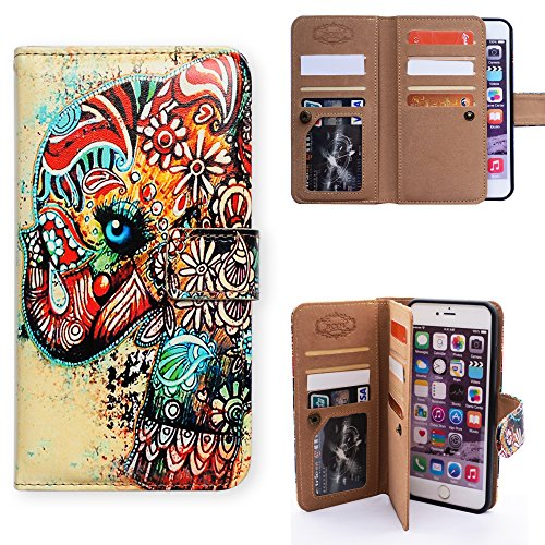 iPhone 8 Plus Wallet Case, Bcov Tri…