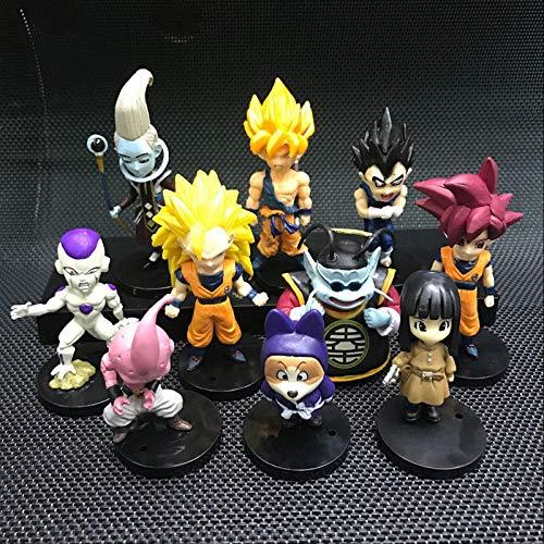 CXNY Nuevo 20 unids/Set PVC Figura de accion Modelo Dragon Ball Z Super Saiyan Son Goku Vegeta Bund Freezer Beerus Kawaii Juguete Regalo para ninos