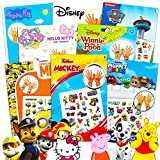 Kids Temporary Tattoos for Girls Boys Bulk Assortment ~ Bundle Includes 250 Kids Temporary Tattoos Featuring Mickey Mouse, Paw Patrol, Minions, Peppa Pig, and More (Kids Party Favors Party Supplies)