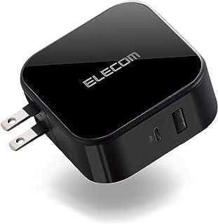 エレコム USB コンセント PD 充電器 合計42W Type-Cポート×1 【 iPhone/Android/タブレット 対応 】 ブラック MPA-ACCP13BK