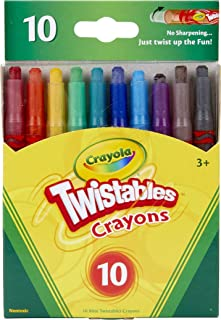 Crayola Mini Twistables Crayons, 10 Classic Crayola Colors Non-Toxic Art Tools for Kids & Toddlers 3 & Up, Great for Kids ...