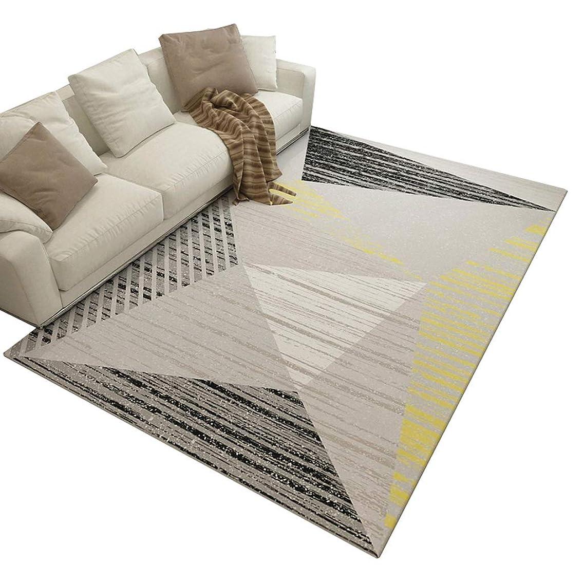 ジャンク意志低下北欧シンプルな幾何学的なカーペット折りたたみソファコーヒーテーブル大型カーペット長方形の柔らかい寝室のベッドサイドの毛布 (色 : ブラック, サイズ さいず : 180cm×280cm)