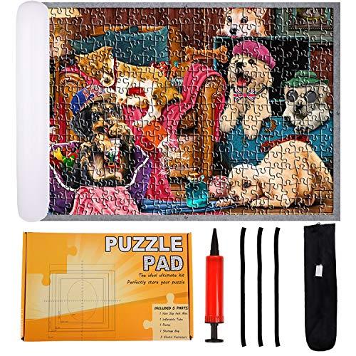 FORMIZON Tapete Puzzle 1000 Piezas, Estera de Rompecabezas Portátil, Rollo de Rompecabezas Inflable de Práctico Alfombrilla de Suave Puzzle Mat Roll para Niños