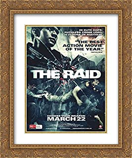 The Raid: Redemption 20x24 Double Matted Gold Ornate Framed Movie Poster Art Print