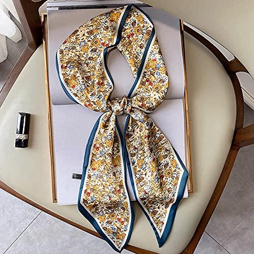 Bufanda Tropic Affair para Mujer Bolso De Seda para Mujer Bufandas Ajustadas Toalla De Muñeca Pañuelo para El Cuello Diadema Bufanda De 150X15 Cm-4
