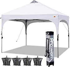ABCCANOPY Canopy Tent 10x10 Pop Up Canopy Outdoor Canopies Portable Tent Popup Beach Canopy Shade Canopy Tent with Wheeled Carry Bag Bonus 4 Weight Bags, 4 x Ropes& 4 x Stakes