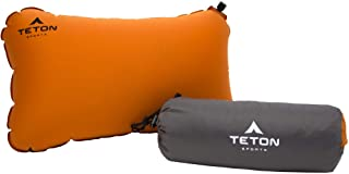 TETON Sports ComfortLite Self-Inflating Pillow; Support Your Neck and Travel Comfortably; Take it on the Airplane, in the ...