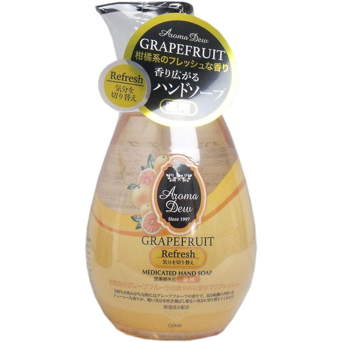 に対応蜜火山薬用アロマデュウ ハンドソープ グレープフルーツの香り 260mL×5個セット(管理番号 4901498104453)