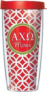 Alpha Chi Omega Mom on Roundabout 16 Oz Traveler Tumbler Mug with Lid