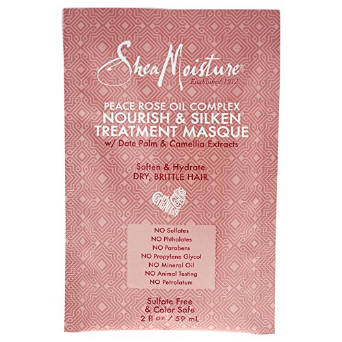 Shea Moisture Peace Rose Oil Complex Nourish & Silken Treatment Masque for Unisex, 2 Ounce