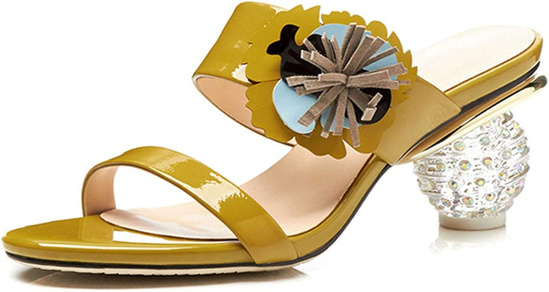 Longbao High Heels Platform Elegant Rome Style Sandals Sweet Flowers Ladies Sandals Genuine Leather shoes