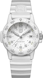 Luminox - Leatherback Sea Turtle 0300 series Watch with carbon compound Case White|Silver Dial and Silicon White Strap XS.0307.WO