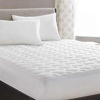 HYLEORY King Mattress Pad Cover Quilted Fitted with Stretches to 18