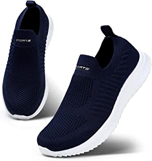 HKR Women's Trainers Slip On Walking Shoes Athletic Running Shoes Lightweight Tennis Sneaker