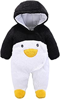 Infant Toddler Animal Style Winter Romper Outfits Baby Warm Clothes