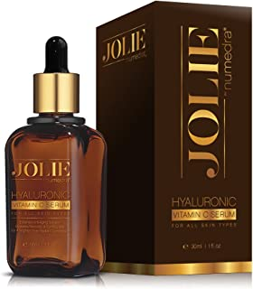 JOLIE by Numedra Vitamin C Serum – BEST NATURAL Anti-Aging Solution for Face. Organic Hyaluronic + Amino Acid. Coconut, Green Tea, Aloe Vera & Avocado infused. Reduces wrinkles & sun spots. Collagen Stimulant. Hydrates, restores ALL skin types. Optimum 20% Vitamin C. Made in USA, FDA approved facility. Doctor recommended. Skin will look visibly younger & more radiant! (1 oz; 30ml)