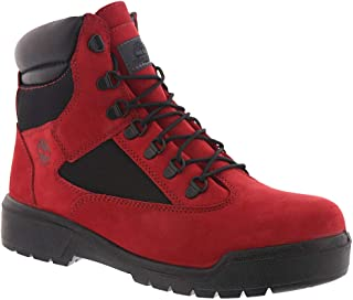 timberland field boots red