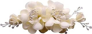 Hair Fascinator Comb - Chicone Ladies Bridal Wedding Prom Flower Hair Clip Headband with Rhinestone Pearls