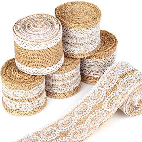 LEOBRO 12 Yards Burlap Ribbon