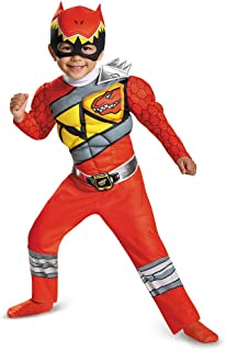 Disguise Red Ranger Dino Charge Toddler Muscle Costume, Large (4-6)